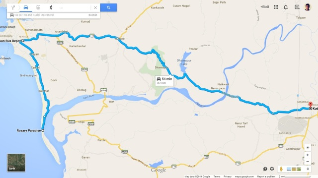 Kudal to Tarkarli via Malavan