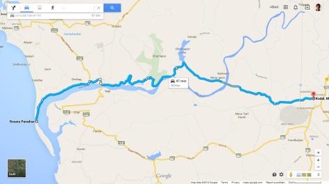 Kudal to Tarkarli via offroad trail